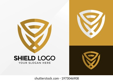Magneto Shield Logo Design, Brand Identity logos vector, modern logo, Logo Designs Vector Illustration Template
