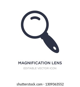 magnification lens icon on white background. Simple element illustration from Education concept. magnification lens icon symbol design.