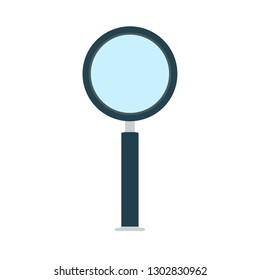 Magnification optical glass sign vector icon exploration nstrument. Search object equipment enlarge lens loupe