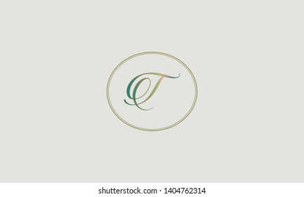 Magnificent Calligraphic Letter T monogram is a vector logo. Flexible identity design of the brand. Vector illustration.