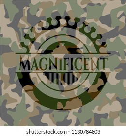 Magnificent on camouflage pattern