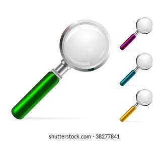 Magnifier color vector illustration