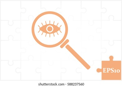 Magnifier and eye icon vector illustration EPS 10