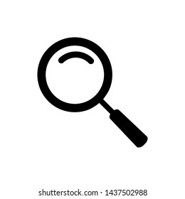 magnifier glass icon logo template