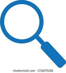 Magnifier glass icon. search icon vector isolate (blue version)