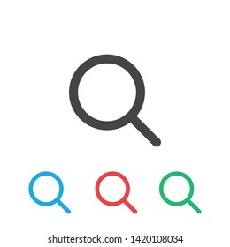 Magnifier glass icon - Vector
