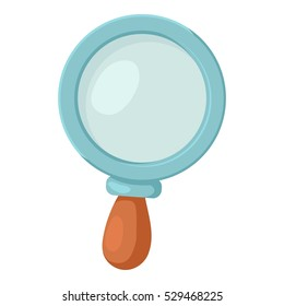 Magnifier icon. Cartoon illustration of magnifier vector icon for web