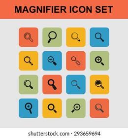 magnifier icon set