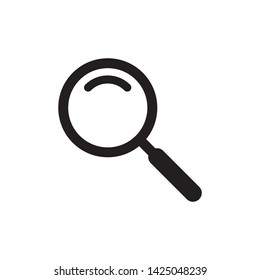 magnifier icon vector flat design