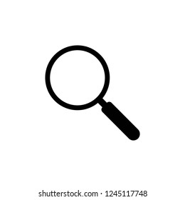 magnifier icon vector on white background