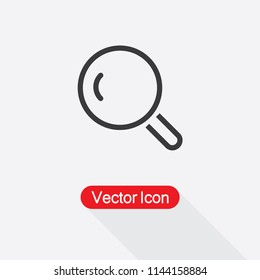 Magnifier Line Icon Vector Illustration Eps10