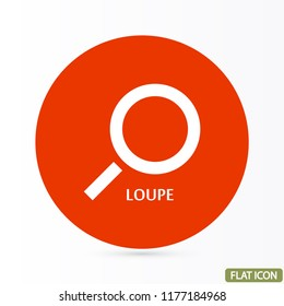 Magnifier with a man  vector icon