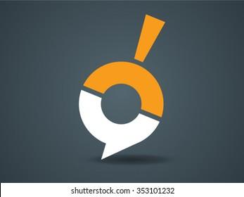 Magnifier, Speech balloons, Logo