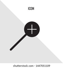 Magnifier vector icon illustration sign