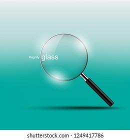 Magnify glass , vector illustration