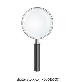 magnify glass, vector illustration