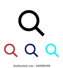 Magnify icon vector Search Symbol