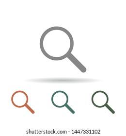 Magnify Vector icon . Lorem Ipsum Illustration design