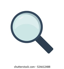 Magnifying glass with black frame and handle vector illustration icon