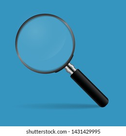 Magnifying glass concept for finding people to work for the organization