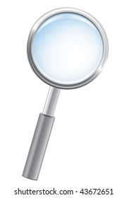Magnifying glass, detailed vector