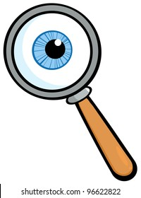 Magnifying Glass With  Eye Ball. Jpeg version also available in gallery.