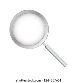 Magnifying Glass, With Gradient Mesh, Isolated on Transparent Background, With Gradient Mesh, Vector Illustration
