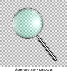 Magnifying Glass, With Gradient Mesh, Isolated on Transparent Background, With Gradient Mesh, Vector Illustration eps10