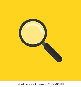 Magnifying glass icon. Analysis, exploration, zoom, scrutiny, audit, inspection, search concepts. Vector illustration.
