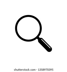 Magnifying glass icon design template. Vector EPS 10