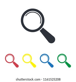 magnifying glass icon search  analysis symbol