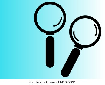 Magnifying glass icon vector.