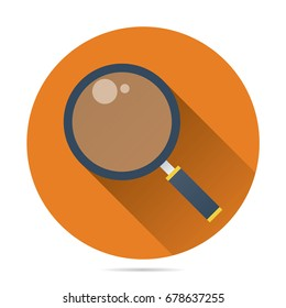 magnifying glass icon vector flat style for search, focus, zoom, business illustration