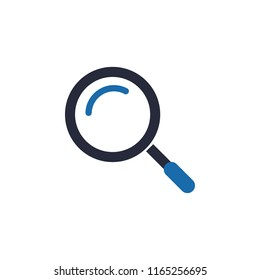Magnifying Glass Icon, Vector magnifying glass icon with reflection