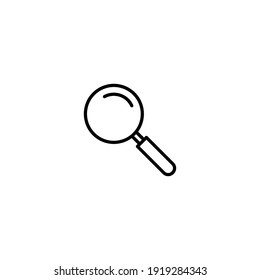 Magnifying glass icon vector for web, computer and mobile app