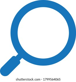 magnifying glass icon.search icon vector (blue version)