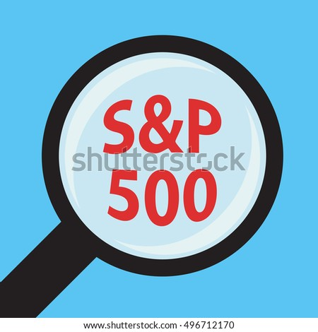 Magnifying Glass Inscription Sp 500 Stock Vector Royalty Free