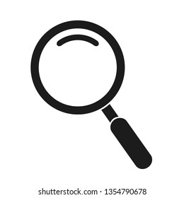 Magnifying glass instrument icon sign – stock vector