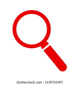Magnifying glass instrument icon – for stock