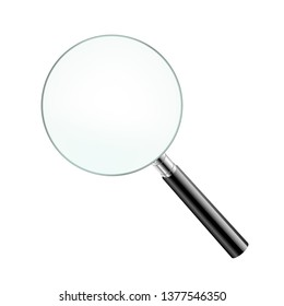 Magnifying Glass Isolated With Gradient Mesh, Vector Illustration