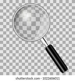 Magnifying glass isolated on transparent background. vector illustration.