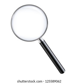 Magnifying Glass, Isolated On White Background, With Gradient Mesh, Vector Illustration