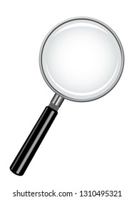 A magnifying glass isolated on a white background