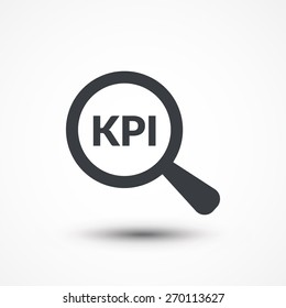Magnifying glass and KPI