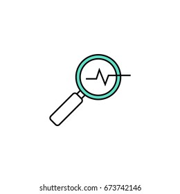 Magnifying glass line icon. Line icons with flat design elements on white background. Symbol for your web site design, logo, app, UI. Vector illustration, EPS