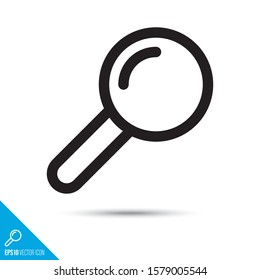 Magnifying glass line icon. Search and find vector symbol. User interface pictogram for web and apps.
