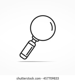 Magnifying glass line icon, zoom icon, minimal line style, vector eps10 illustration