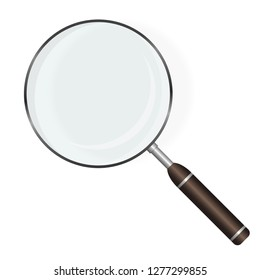 Magnifying Glass. Loupe magnifier. Research and analysis. Vector