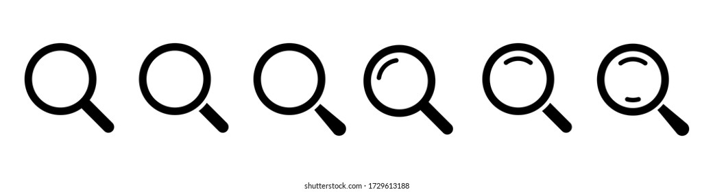 Magnifying glass loupe. Vector isolated icon. Search icon vector. Magnifier loupe sign. EPS 10