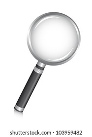 magnifying glass over white background. vector illustration